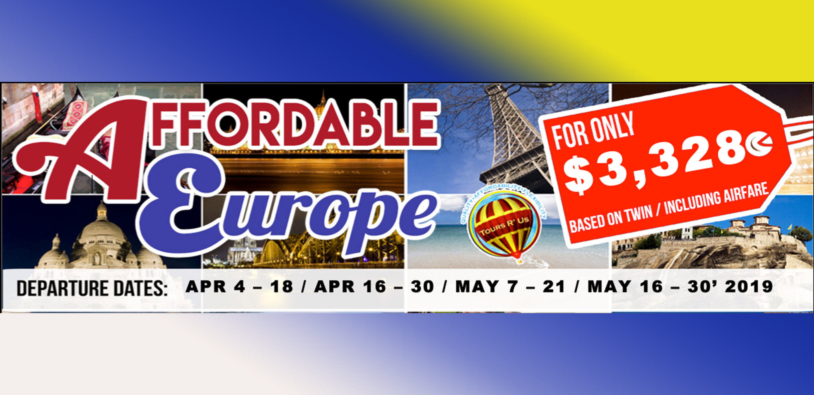Affordable Europe Featured Images 2019 March Packages