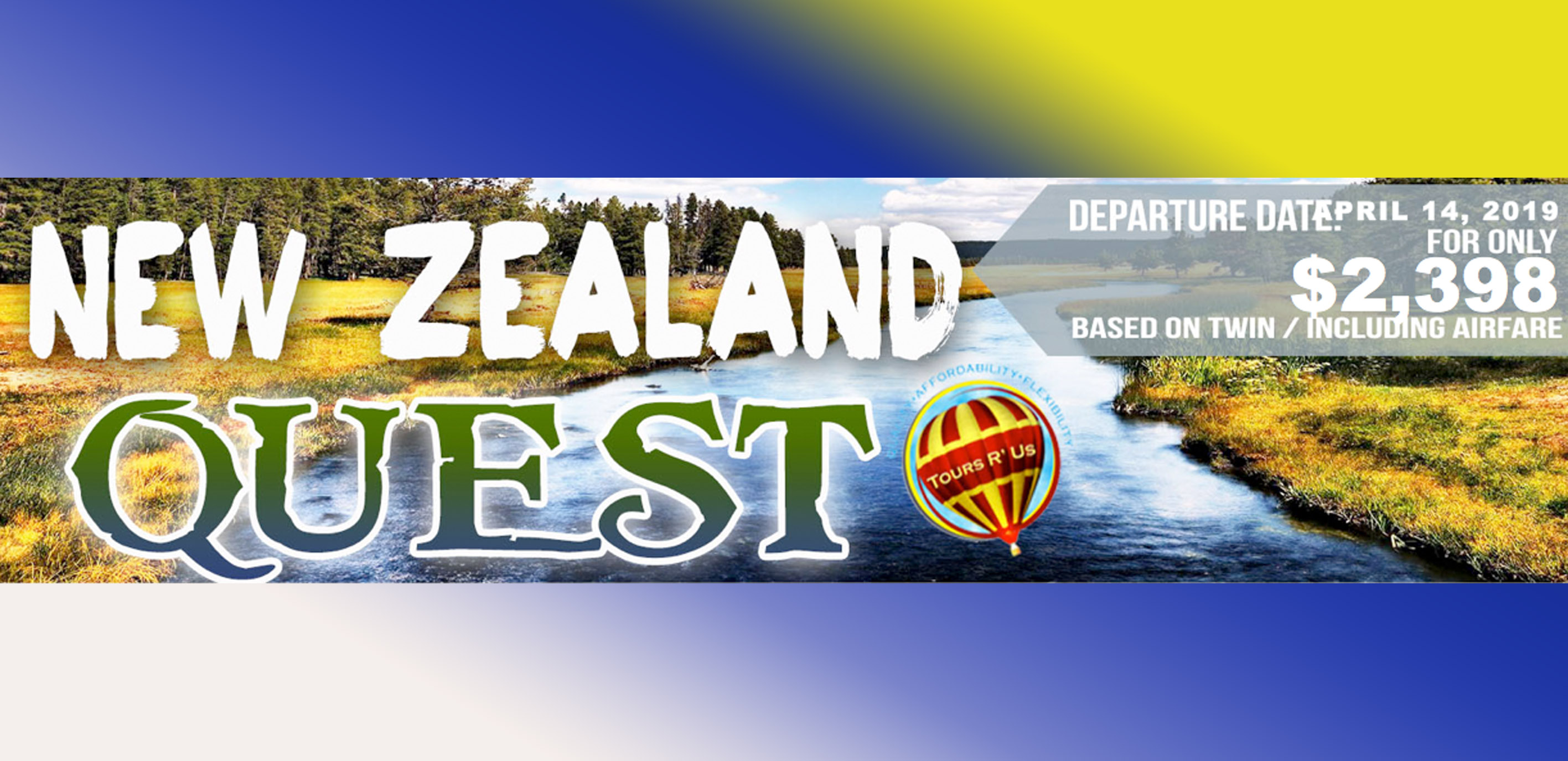 NEW ZEALAND QUEST Featured Images 2019 March Packages