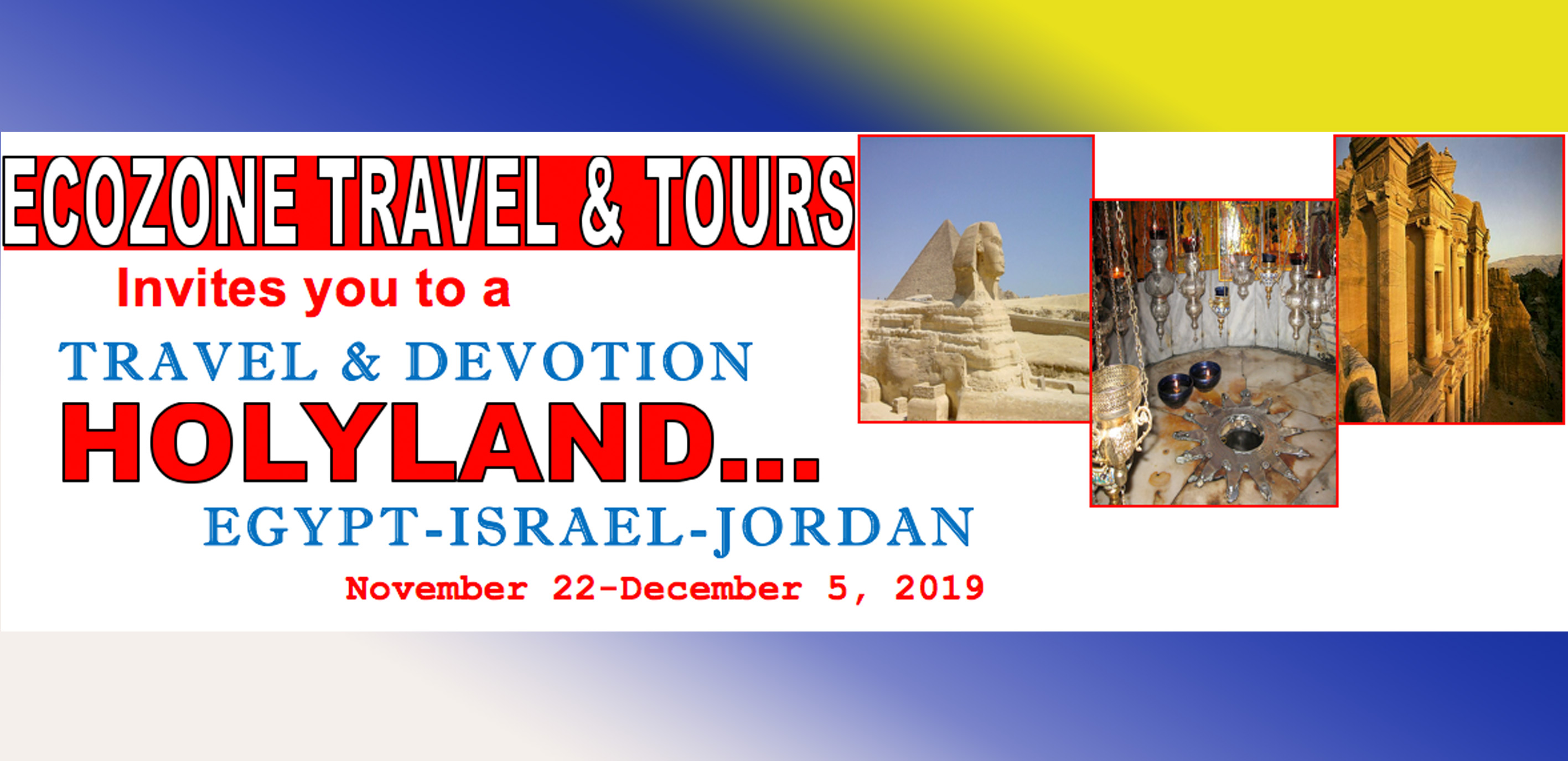 Nov 22 Holy Land