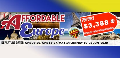AFFORDABLE EUROPE Featured Images 2020 January Packages