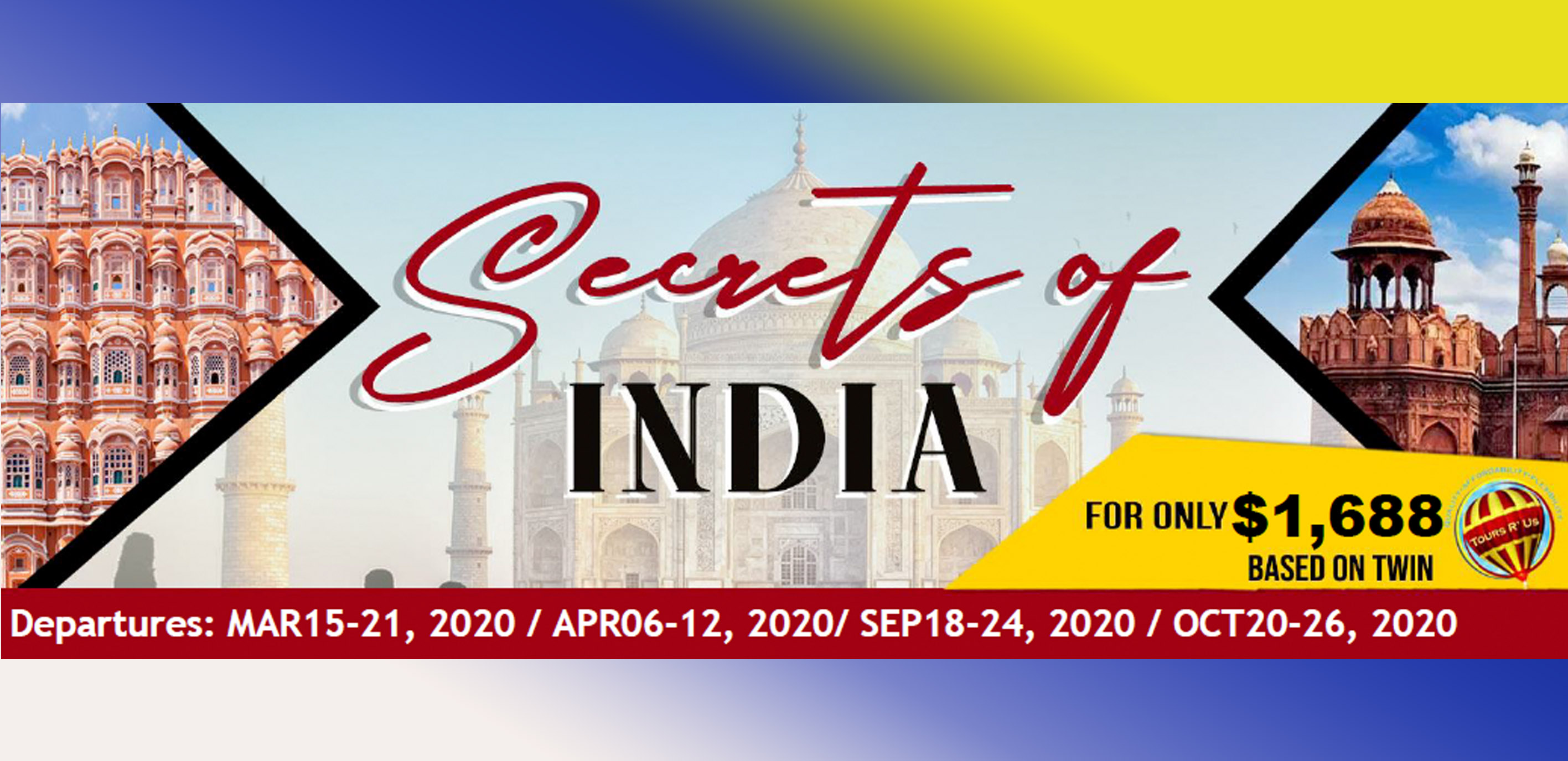 SECRETS OF INDIA ITINERARY - Featured Images 2020 February Packages